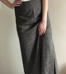 Vintage suknja (svila i vuna)