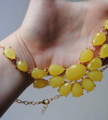 Ogrlica sa žutim kristalima