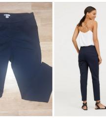 H&M navy blue poslovne pantalone