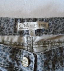 Animal print skinny farmerke Clockhouse