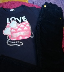 Zara pantalone +ovs majica