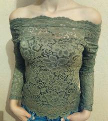 NOVO maslinasta bluza Cipka