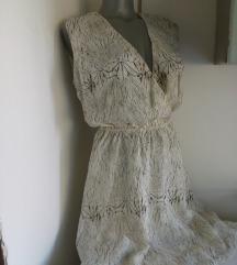 Nova MiM krem braon dekoltovana haljina M