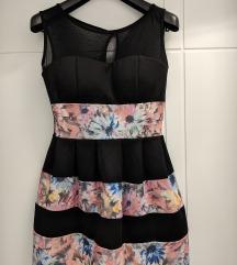 Crno cvetna haljina