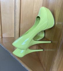 Žute cipele na štiku 40