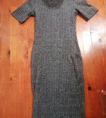 Sivo srebrna haljina
