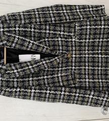 Dugi sako od teksturisane tkanine, Zara NOVO