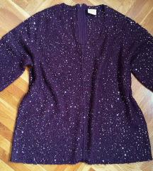 Lila svetlucavi džemper M veličina