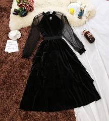 Nova plisana haljina sa cipkom, SNIZENO