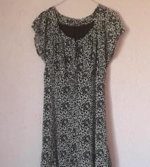Lepršava crno bela haljina