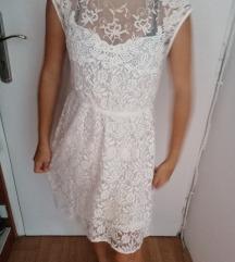 Bež haljina sa radom