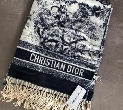 Original christian Dior sal od kasmira i svile nov