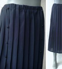 suknja teget plisirana broj 46 ili 48
