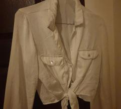 Bela košuljica na vezivanje