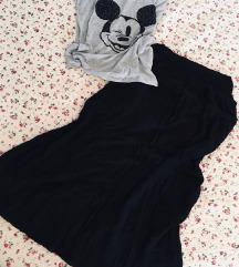 Crna maxi suknja sa dzepovima
