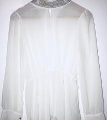 Bela svecana kosulja bluza