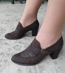 L' IDEA Italy braon kozne cipele NOVE