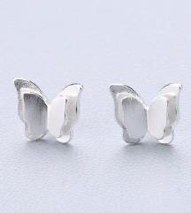 Leptirići minđuše - srebro 925