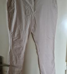 Letnje bež H&M pantalone plus size - kao nove