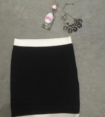 Crno bela H&M uska suknja