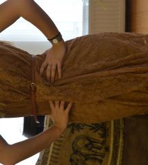 P.S. Bež čipkana haljina