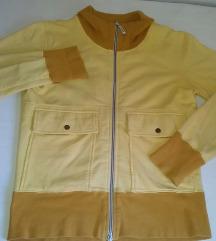 Žuta pamucna jakna