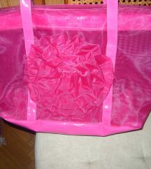 Velika ciklama-roze torba