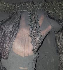 CIPKA..bogata crna suknja postavljena