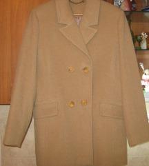 %Bež kraći kaput od vune 42-PERLA- NOVO