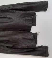 Braon kožna jakna