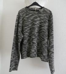 H&M siva melirana dzemper bluza