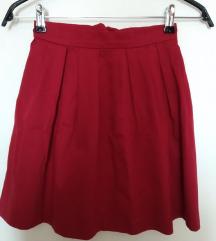 XS bordo-crvena suknja