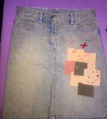 Beneton teksas suknjica za devojcice 145/57 (10)