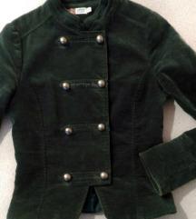 Vintage strukirana Green Coast plisana jakna