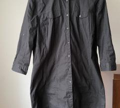 Crna duža kosulja/haljina , tunika