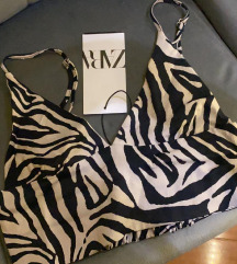 Zara zebrasti top