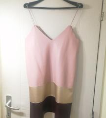 Zara haljina imitacija kože ekstra snizen