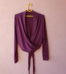 Burgundy bluza na preklop***NOVO