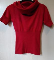 ♥ Crvena majica kratkih rukava sa rol kragnom ♥