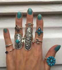 Set od 9 elegantnih prstenova NOVO