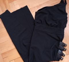 Duga crna haljina sa slicem