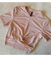 H&M wrap roze majica S