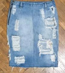 🔥BRUTALNA! H&M🔥 teksas suknja XS