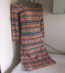 Terranova trikotaza sarena haljina S