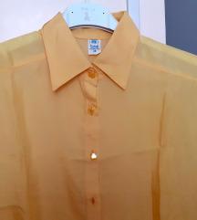 Košulja, grež svila, žuta. sa mašnom, Rudnik