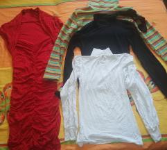 Crvena haljina i tri bluze