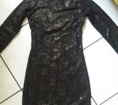 Crna haljinica sa zlatnim odsjajem vel S