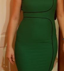 Zelena haljina sa otvorenim leđima