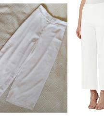 Zara bele wide leg pantalone S