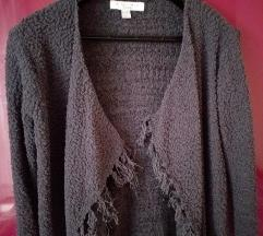 Sivi kardigan džemper sa resama Amisu xs,s